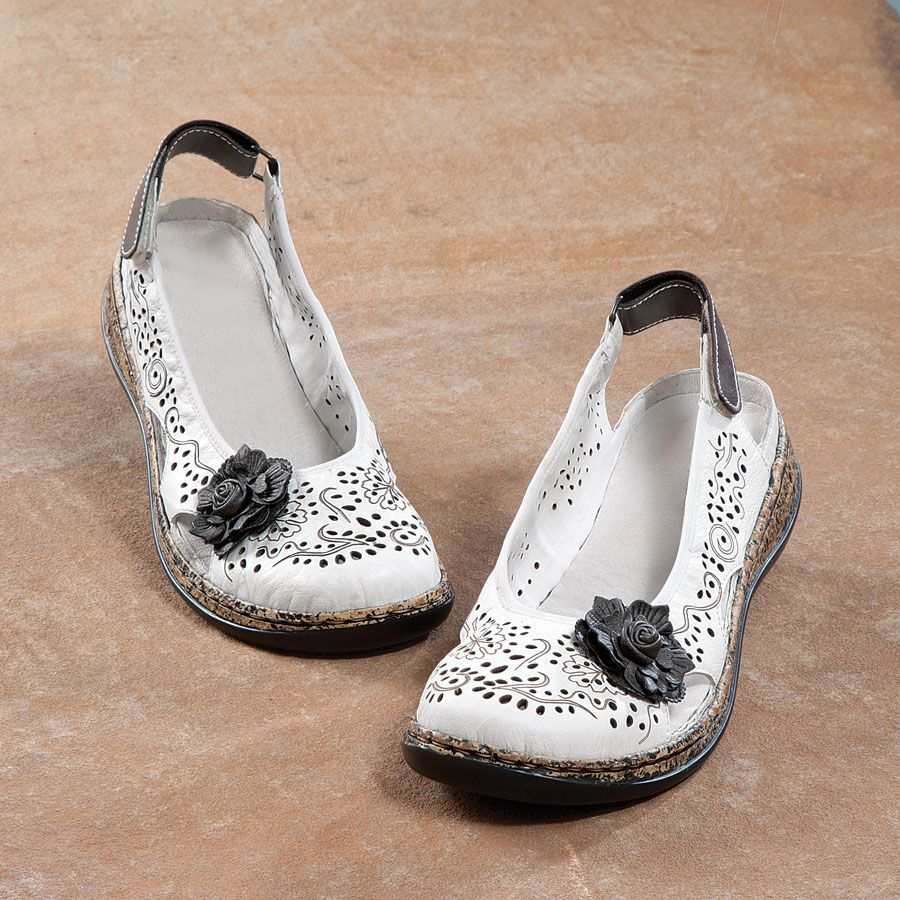 The updated lace cut-out flat. Strongly considering ... Rieker Daisy Shoes | Acorn Online