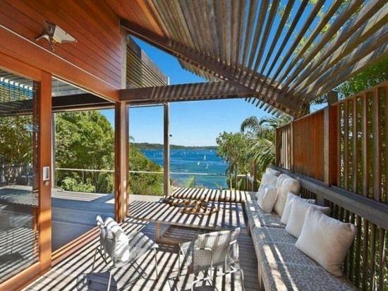 Holzbretter Dach Ideen Terrassenüberdachung Holz