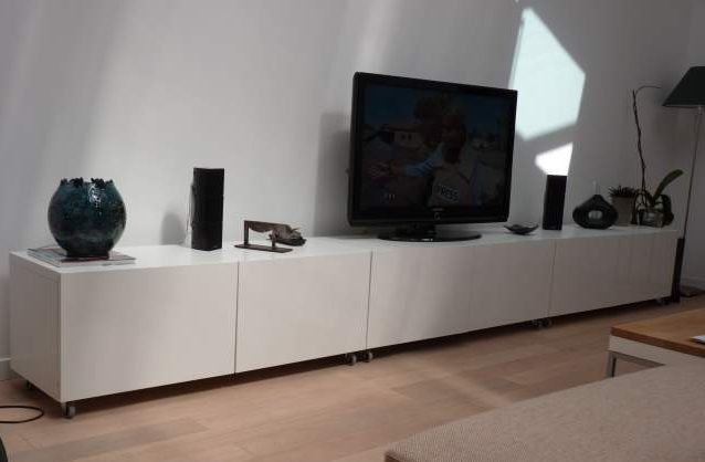 Album 5 banc tv besta ikea r alisations clients s rie 2 salon pinterest d coration - Meuble de television ikea ...