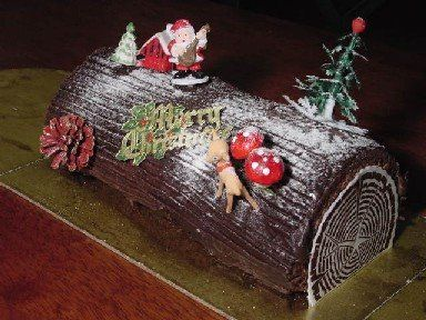 Yule Log Cake For Christmas Or New Year S Eve Ricetta Con