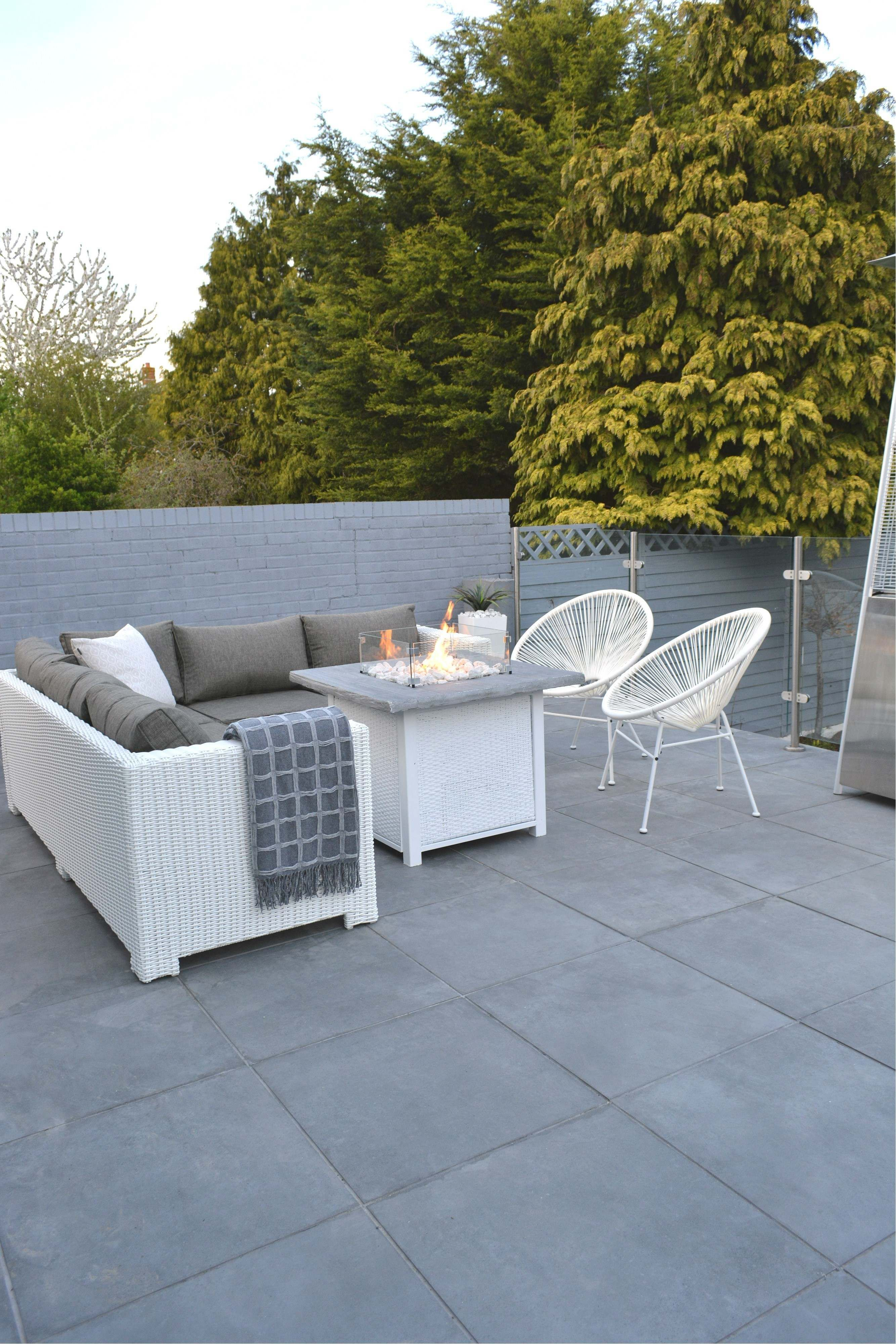 Surface Outdoor Mid Grey Porcelain Slabs In The Garden