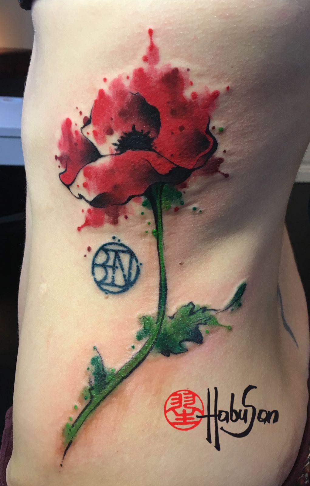 Mohnblume Watercolour Tattoo Mohnblume Aquarell Blumen Tattoos Aquarell Tattoos
