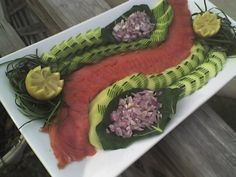 smoked salmon platter  Beautiful presentation if you had 23 hours to prepare i smoked salmon platter  Beautiful presentation if you had 23 hours to prepare i smoked salmo