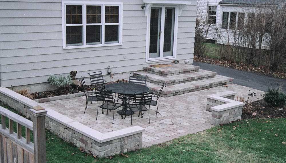 Lovable Stone Backyard Patio Ideas Paver Patio Sitting Wall And Firepit Patios Amp Decks Pintere Concrete Patio Designs Stone Patio Designs Patio Pavers Design