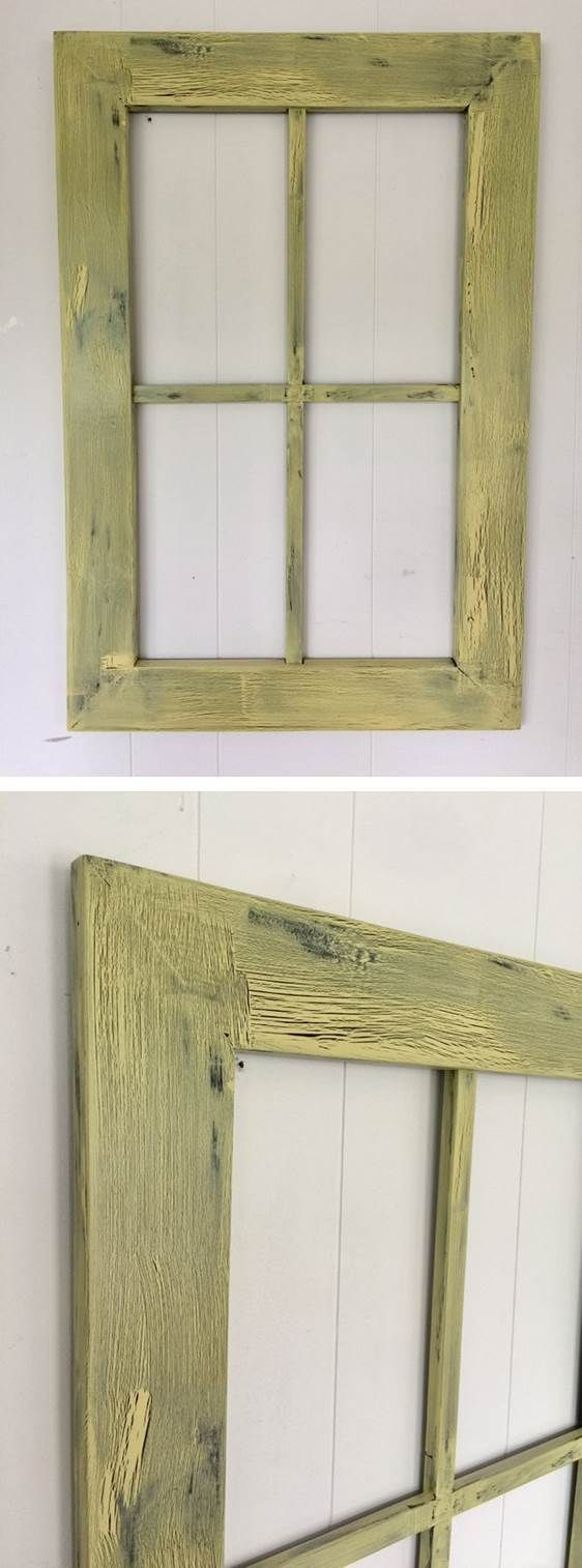 Rustic Window Frame Wall Décor   Simply set it above a clean white ...