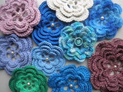 Rozetten Haken Crochet Flower Patterns Crochet Motif Crochet Patterns