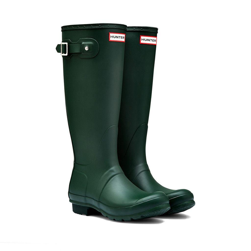 Original Tall Matte Boots Hunter Boots Green Hunter Boots
