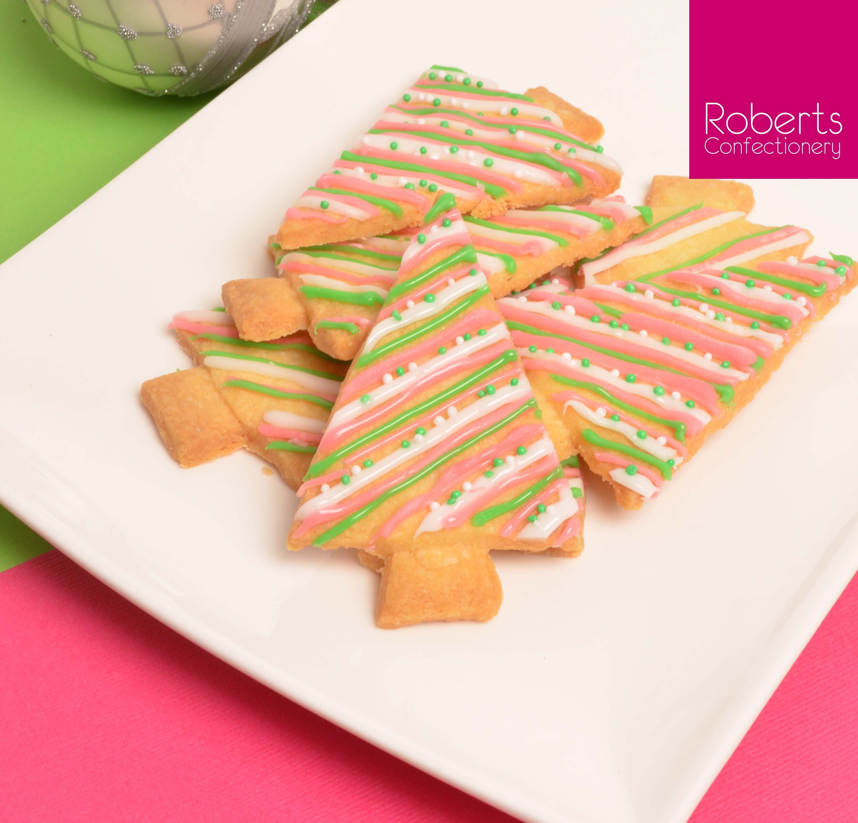 Christmas Cookies Piped With Roberts Confectionery Fondant Creme