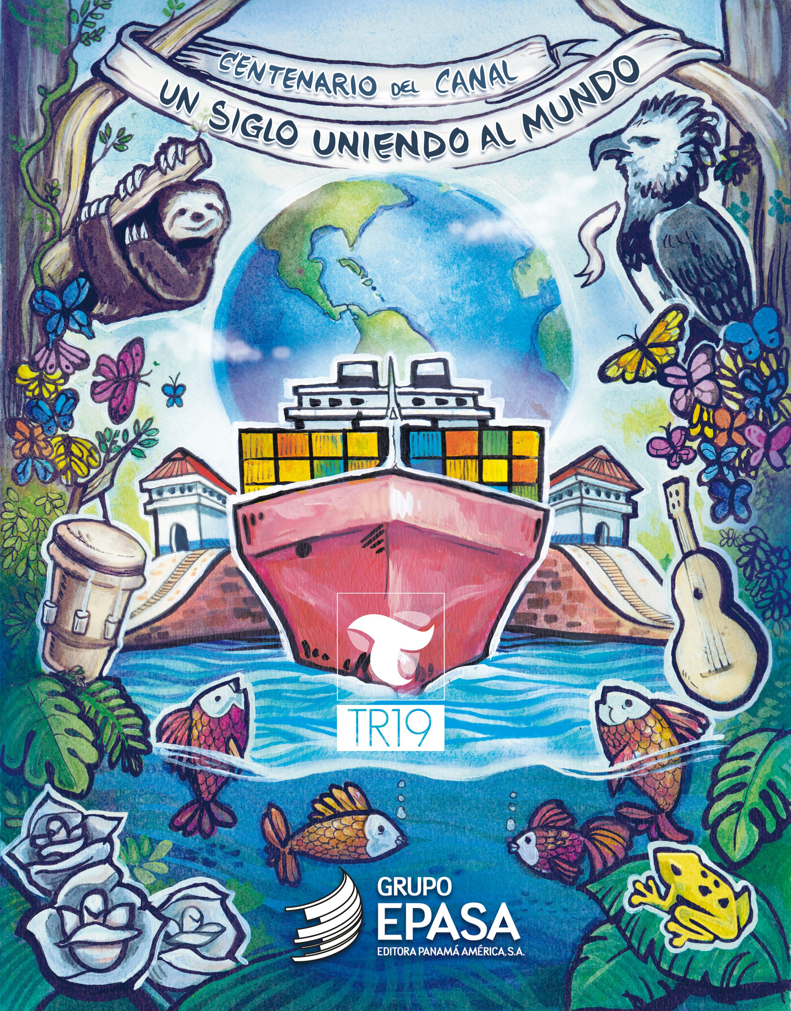 Ilustracion Ganadora De Mi Autoria Realizado Para La Portada De Suplemento Especial De Epasa Panama America Critica Dia Di Panama Canal Art Art Painting