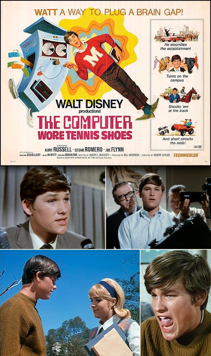 Walt Disney S The Computer Wore Tennis Shoes 1969 Starring Kurt