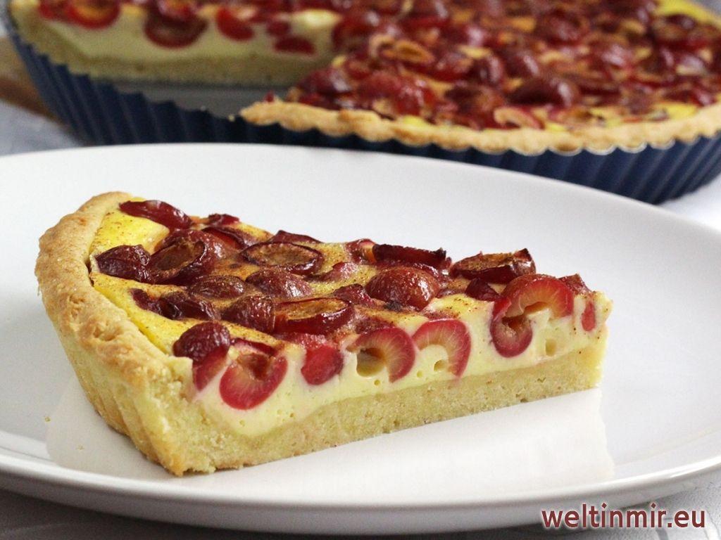 Schnell Zubereiteter Kuchen Mit Kirschen Und Pudding Aus Dem