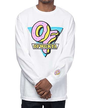 e418968325a9b0 Odd Future OF Triangle White Long Sleeve T-Shirt