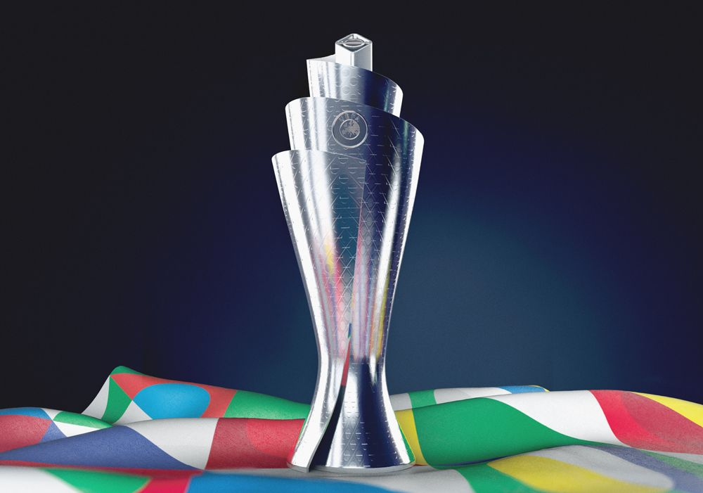 New Logo And Identity For Uefa Nations League By Y R Branding League Soccer Trophy Trophy Design