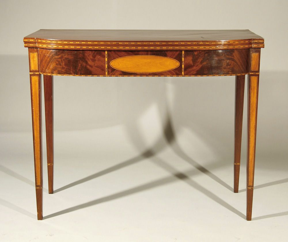 Antique card table regency card table inlaid card table antique - Interiors Antique Hepplewhite Card Table