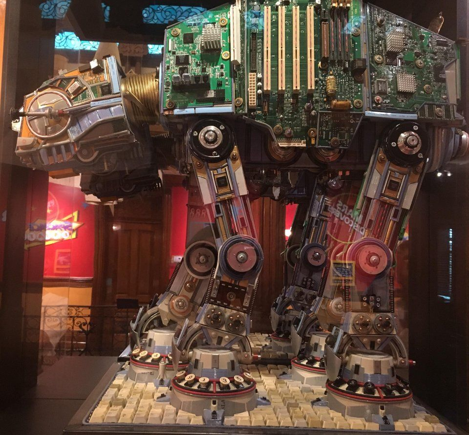 Starwars At At Made From Old Computer Parts Https Www Reddit Com R Pics Comments B4k6s0 Starwars Atat Made From Old Compu Old Computers Awsome Pictures Pics