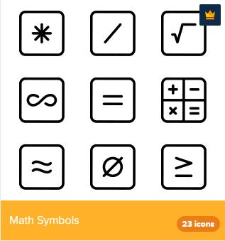 23 Premium Vector Icons Of Math Symbols Designed By Deemakdaksina Symbols Symbol Design Icon