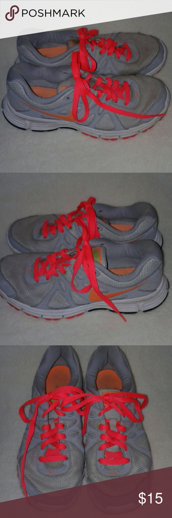 ba2b70b67674d Nike Revolution 2 Nice shoes, a few stains on shoelaces, some creasing, and