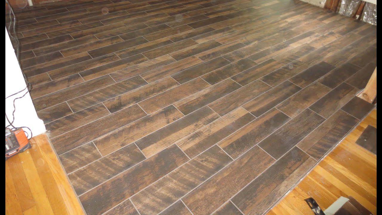 Wood Look Plank Tile Installation Time Lapse On Schluter