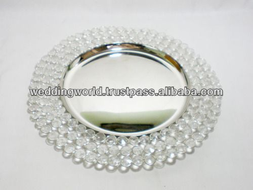CRYSTAL CHARGER PLATES cheap plastic charger plates $2.00~$10.00 & Crystal Charger Plates Cheap Plastic Charger Plates - Buy Wedding ...