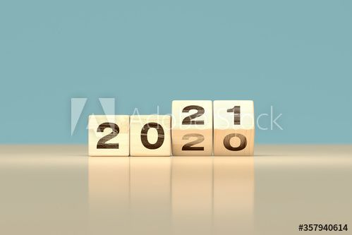 change 2020 to 2021 happy new year concept - wooden cubes ...
