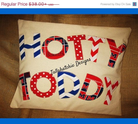 20% OFF TODAY Hotty Toddy 16 X 20 Pillow Cover* Ole Miss