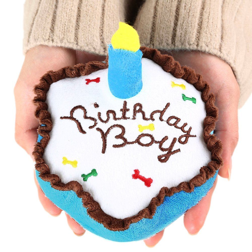 Dog Birthday Cake 2 Set Plush Squeaky Toy By BINGPET Want To Know More Click On The Image This Is An Affiliate Link