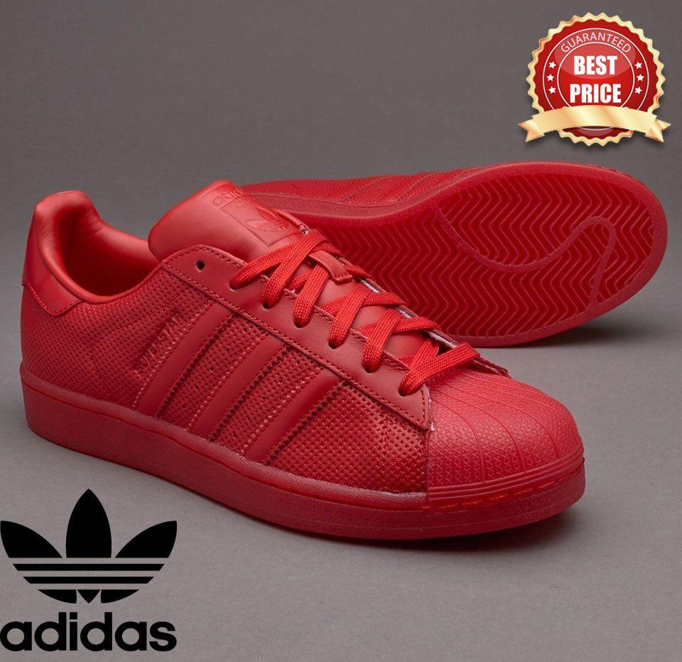 Adidas Rojo Originals Hombre Chico Mujer Entrenadores Adolescente Chico Superstar Adicolor Rojo Entrenadores ed6cf9f - asbook.online