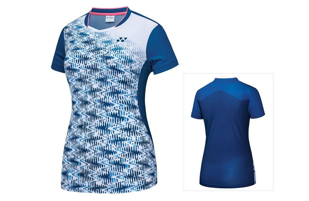 Yonex 2018 Collection Women S Badminton Round T Shirts White Clothes 81ts032fwh Yonex Women S Badminton Badminton Outfits Yonex
