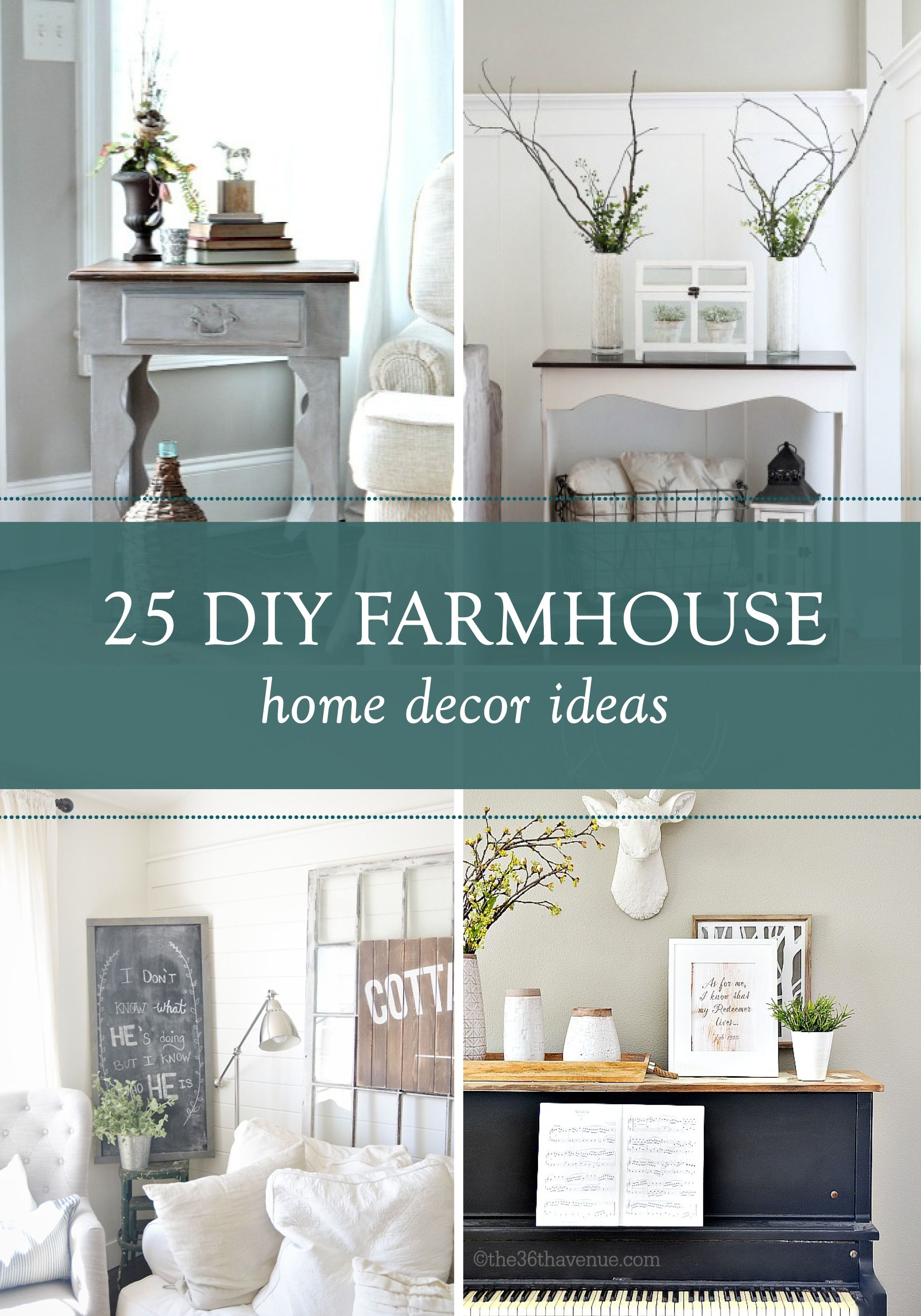 home decor diy projects - farmhouse design | shabby, living rooms
