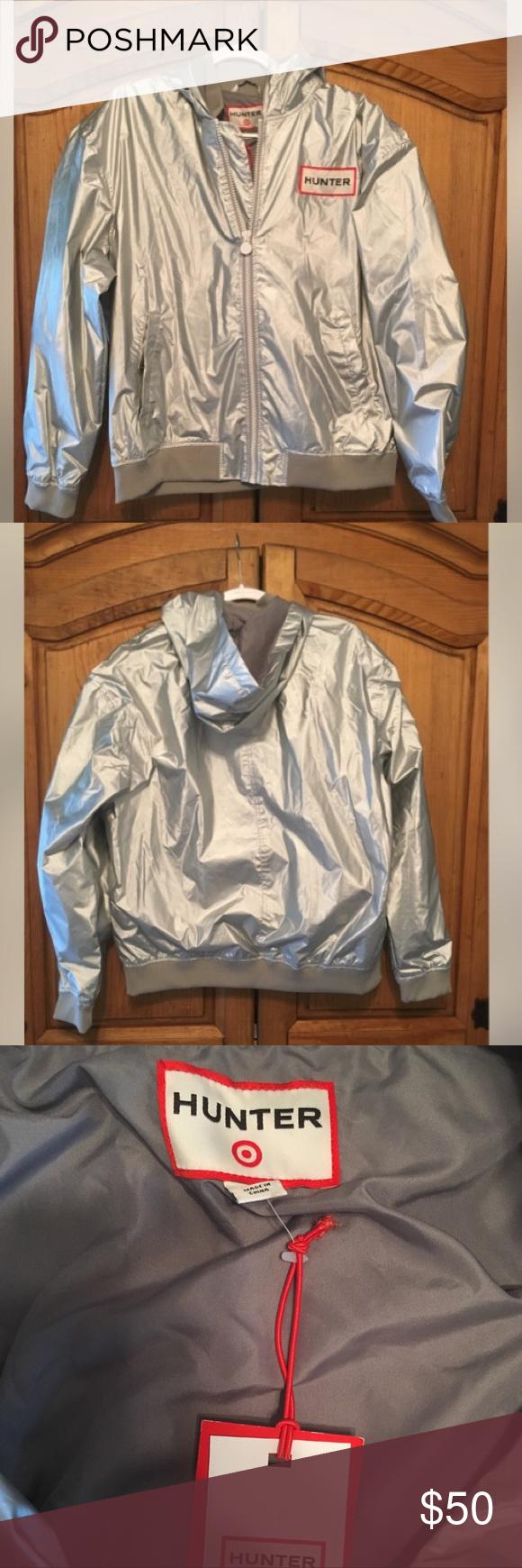 662333407 Hunter x Target Jacket NWT Hunter silver jacket Hunter for Target ...
