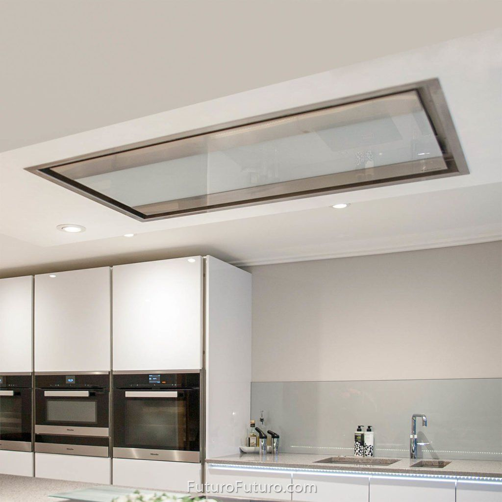 Ceiling Mount Range Hood For Whole Room Ventilation Includes Wireless Remote Control Made In Italy From The Hig Range Hood Skylight Ceiling Mount Range Hood Kitchen vents in ceiling