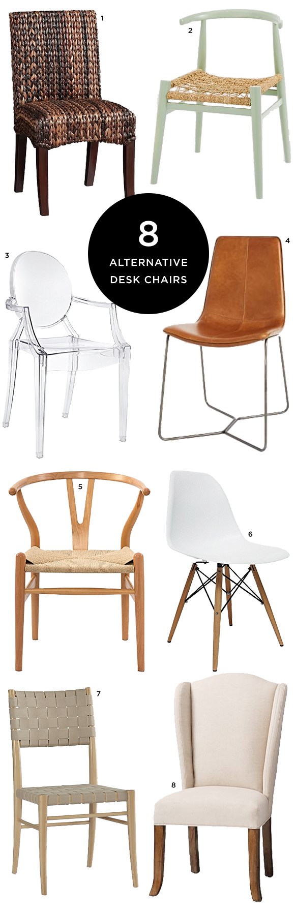 8 Alternative Desk Chairs Stylish Desk Finding A House Home