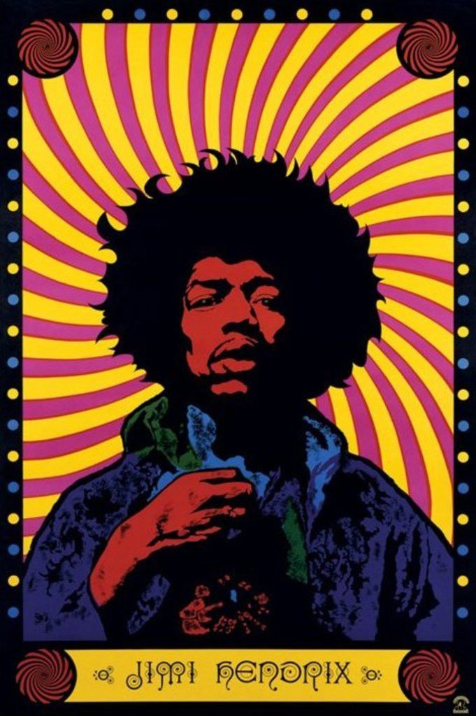 Jimi Hendrix Psychedelic Official Poster With Images Jimi Hendrix Art Jimi Hendrix Poster Psychedelic Poster
