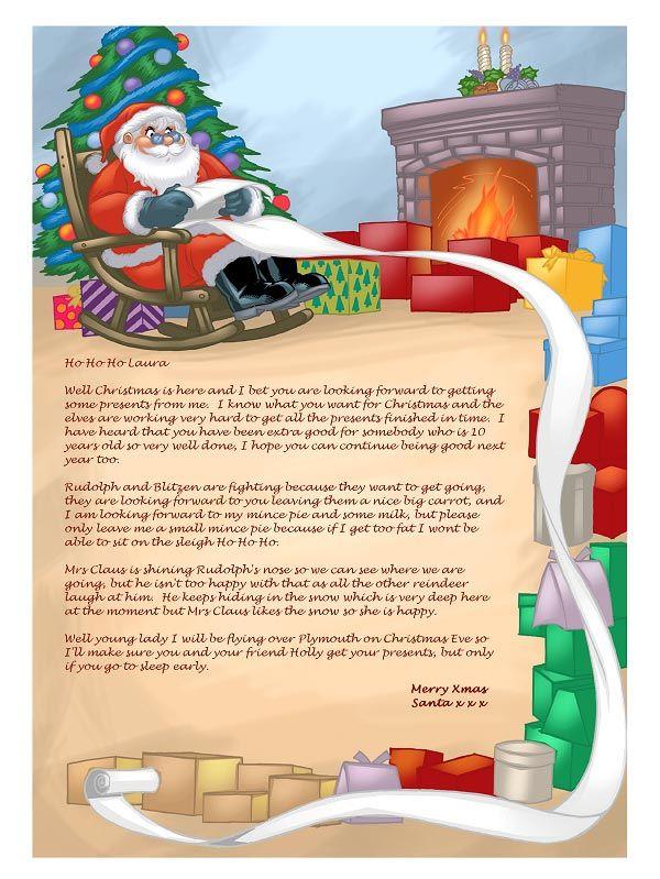 Santa Letter  Christmas     Miniature Christmas