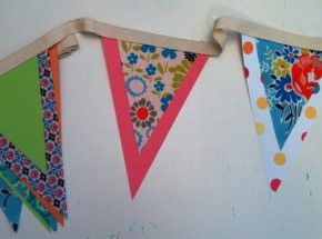 Bunting Decoration - another one to do with Brandy on her sewing machine