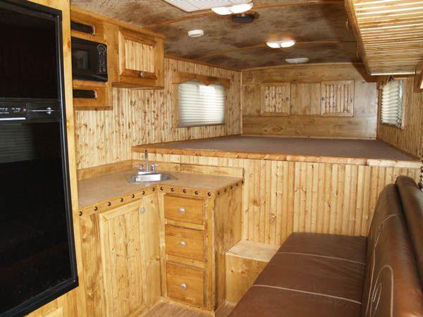 Pine Living Quarters Cargo Trailer Camper Conversion Cargo Trailer Camper Cargo Trailers