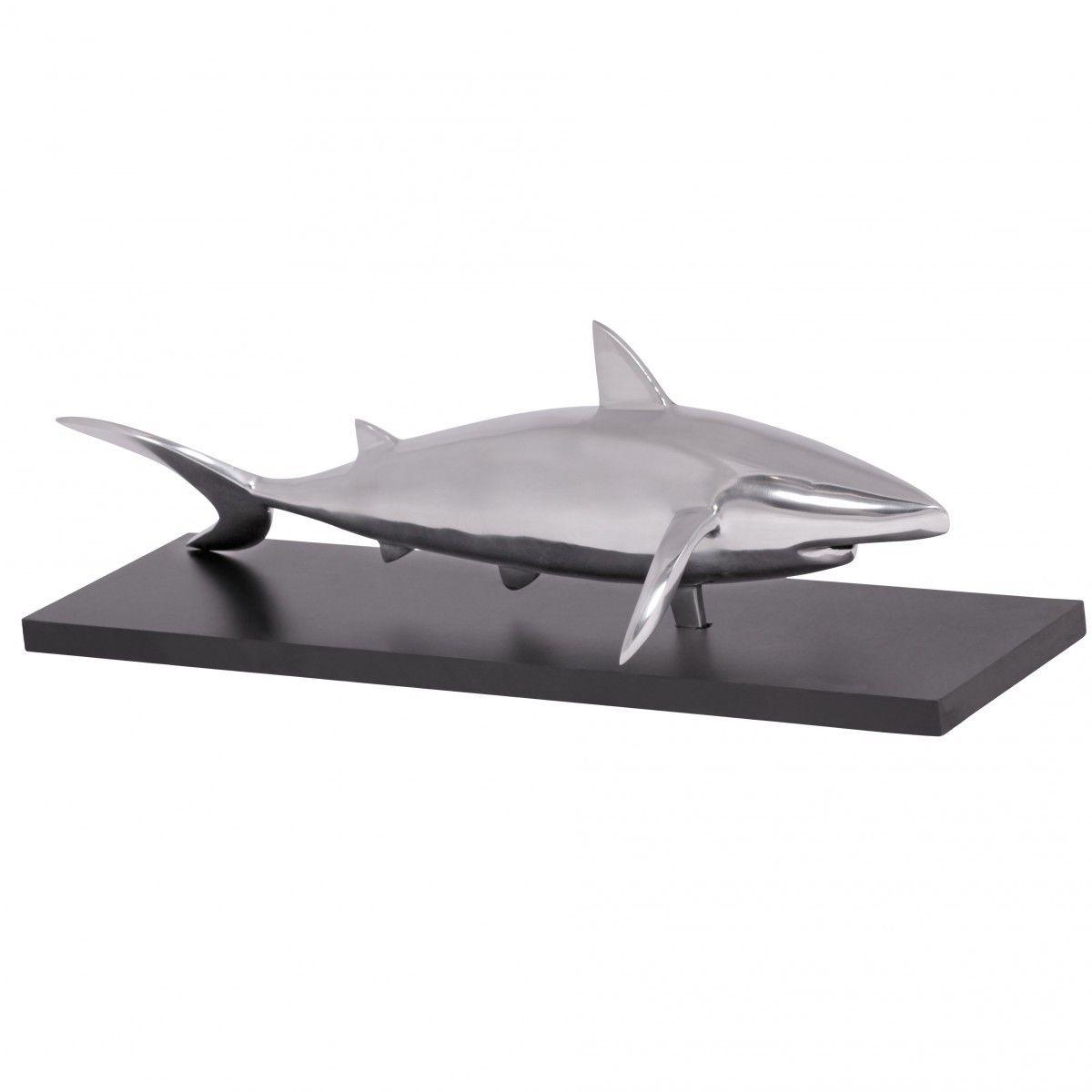 Esszimmer dekor wohnung finebuy haifisch dekoskulptur shark design aluminium deko wohnzimmer