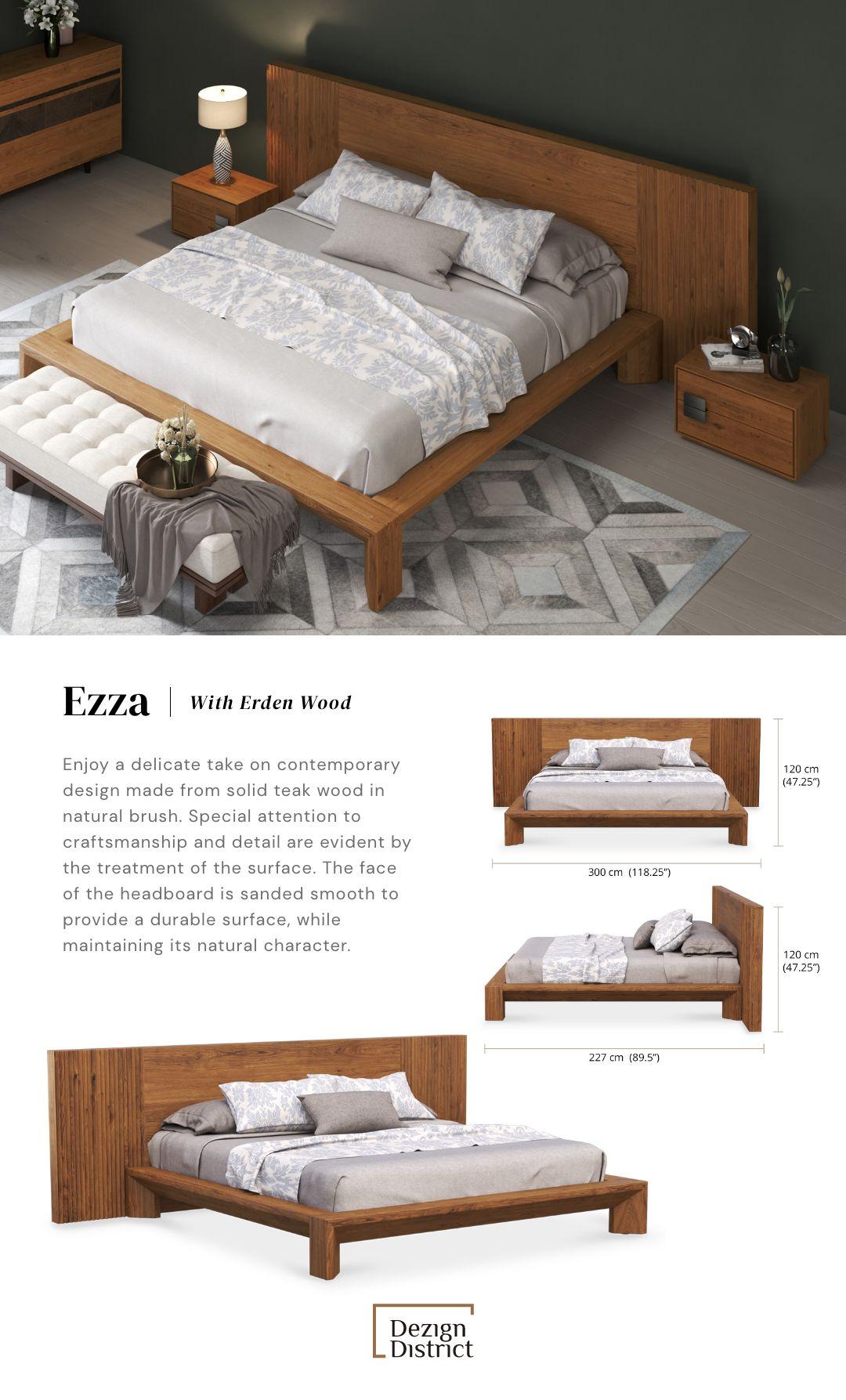 Ezza Custom Bed With Erden Wood In 2020 Custom Bed Custom Bed