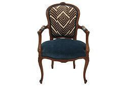 MISSION AVENUE STUDIO Louis XV-Style Fauteuil in Ralph Lauren