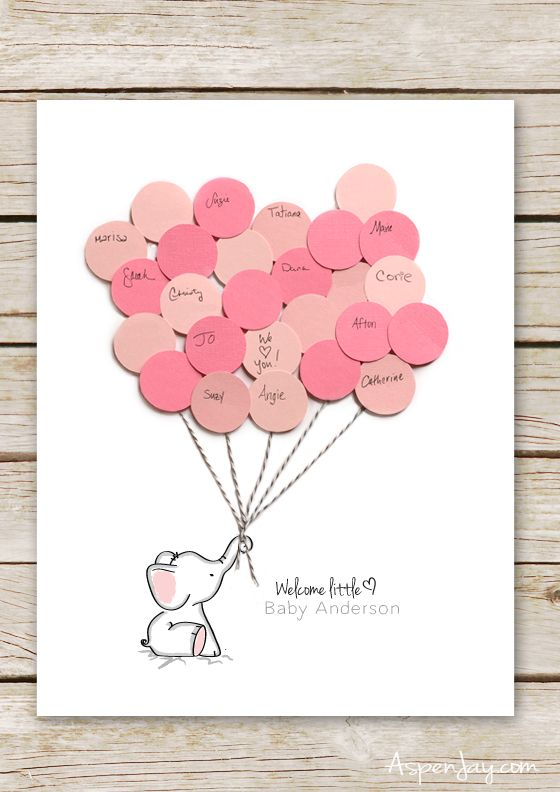 Elephant Baby Shower Guest Book Printable Baby Shower