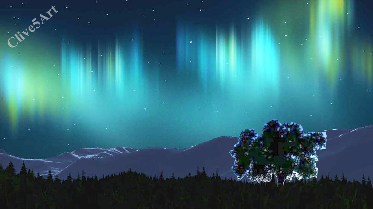 Aurora Borealis With Nebula With Stars Easy First