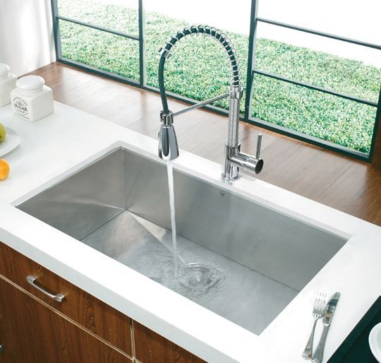 Vigo Huge Deep Undermount Rectangular Stainless Steel Sink