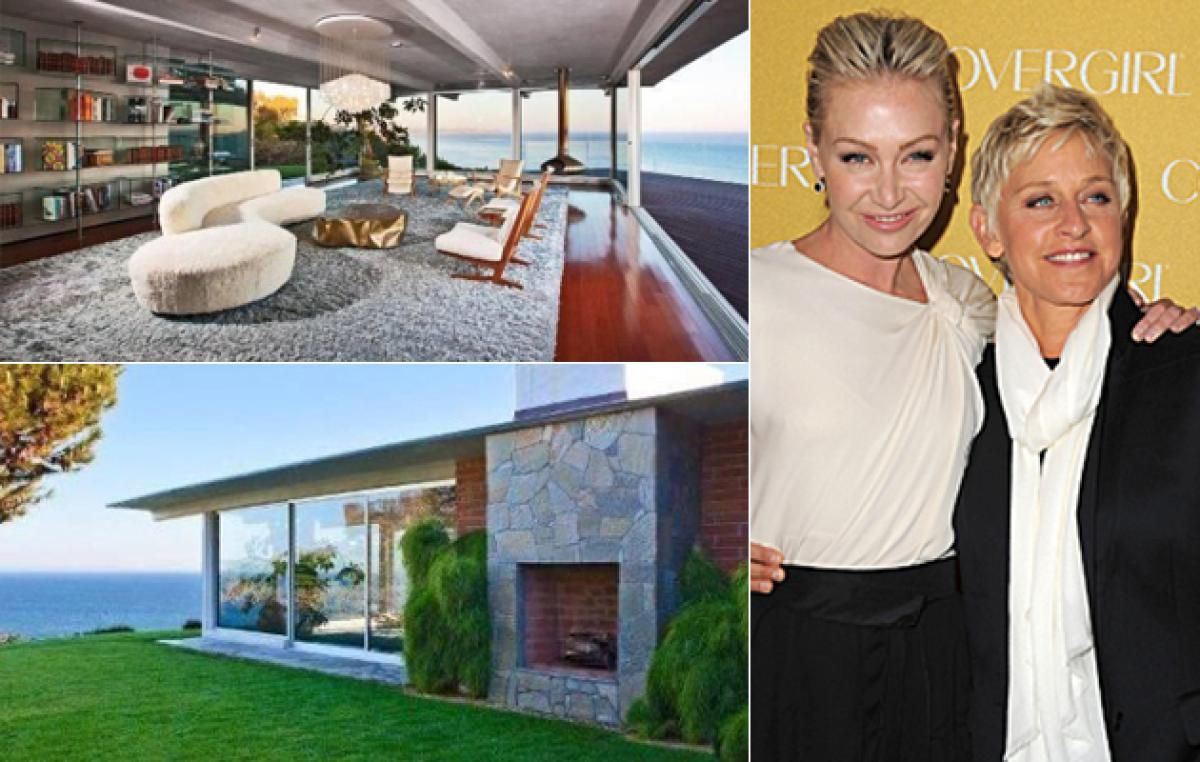 Ellen DeGeneres and Portia De Rossi added to their real estate collection, purchasing Brad Pitt's Malibu estate for $12 million. It has 4,000 square feet of space in one of the most exclusive zip codes in California, with its private beach access and Pacific Ocean views. Pitt bought it fresh off his breakup with Jennifer Aniston, in 2005 for $4.8 million.