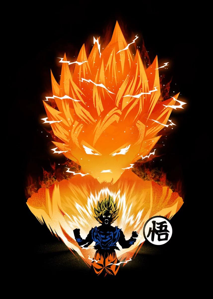 The Angry Super Saiyan Poster Art Print By Dan Fajardo Displate Dragon Ball Artwork Anime Dragon Ball Super Dragon Ball Art