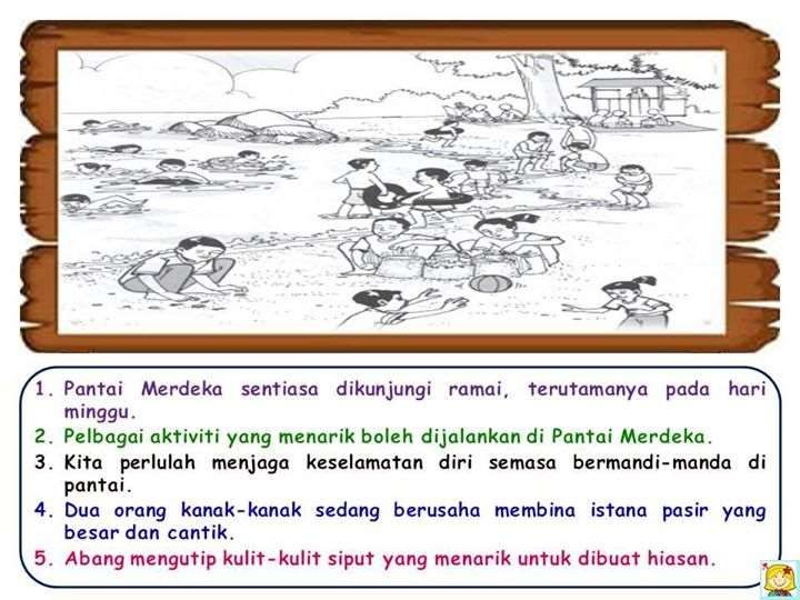 Koleksi Jawapan Bina Lima Ayat Upsr Coco大马站 Malay Language Study Materials Language