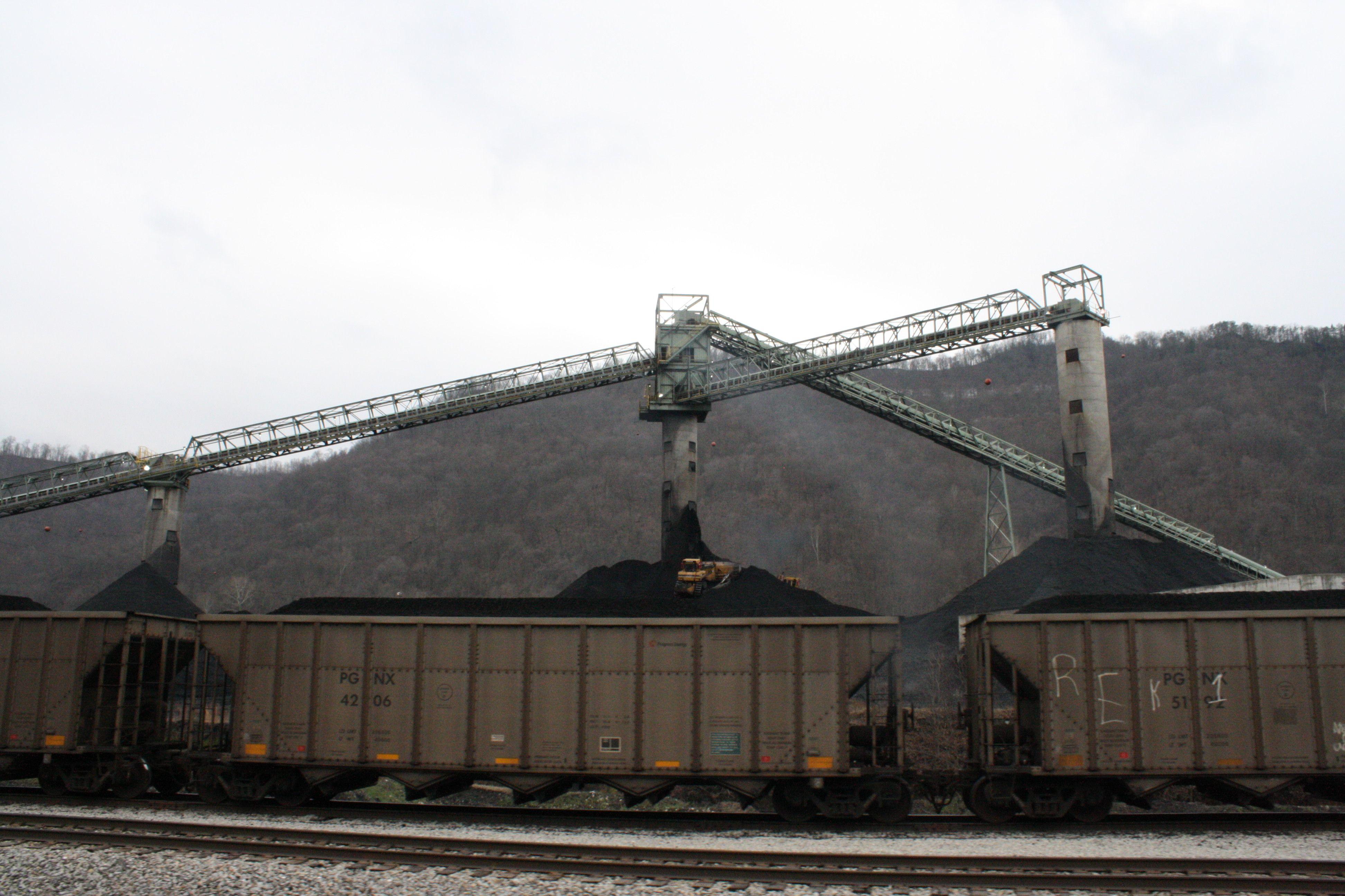 Coal mine train west virginia coal mining bay bridge