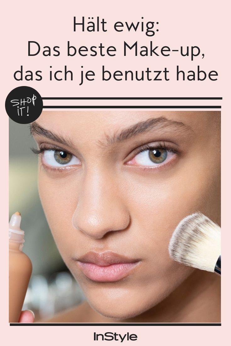 Das ist das beste Make-up, das ich je benutzt habe. Denn: Die Foundation hält ewig, kleistert nicht zu und deckt trotzdem. Hier kannst du sie sogar direkt shoppen.