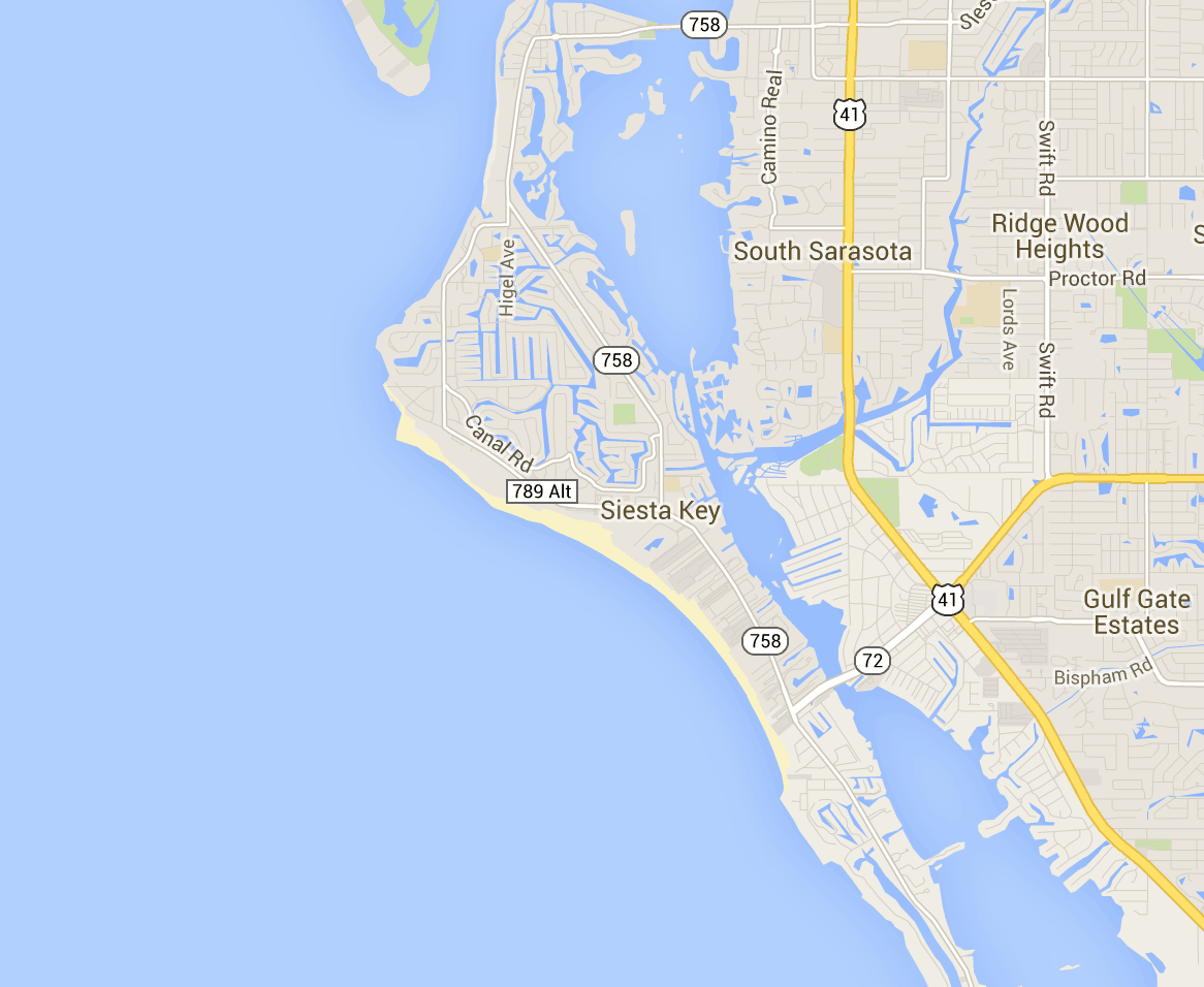 Map Of Siesta Key Hotels And Attractions On A Siesta Key Map - Map florida keys hotels