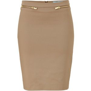 BLUMARINE Beige Pencil Skirt - Polyvore | Cool | Pinterest | Beige ...