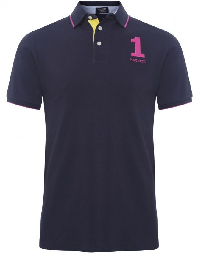 Hackett Classic Pique Polo Shirt Navy - £80 with FREE UK Delivery #Mens #Fashion #Hackett #PoloShirts